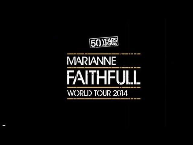 画像: MARIANNE FAITHFULL 50 YEARS ANNIVERSARY TOUR VIDEO youtu.be