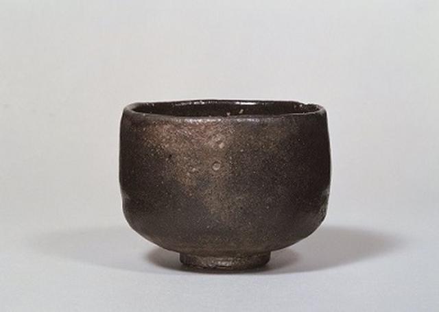 画像: 初代 長次郎 黒樂茶碗 銘 大黒 重要文化財 桃山時代(十六世紀) 個人蔵