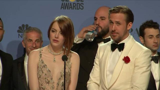 画像: Ryan Gosling, Emma Stone & La La Land - Golden Globes 2017 - Full Backstage Interview youtu.be