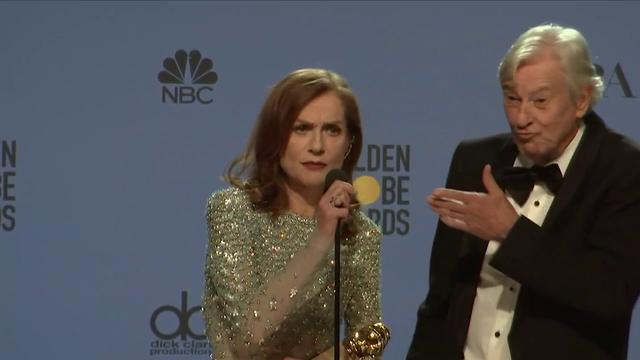 画像: Isabelle Huppert - Golden Globes 2017 - Full Backstage Interview youtu.be