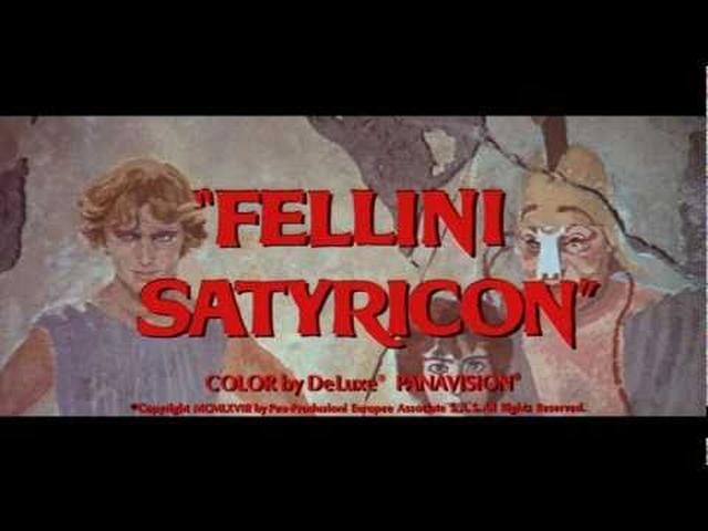 画像: Trailer -Fellini Satyricon youtu.be