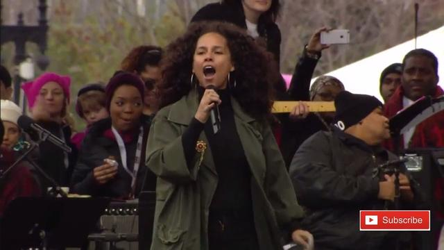 画像: Alicia Keys Women's March Speech on Washington Anti Donald Trump Protest youtu.be