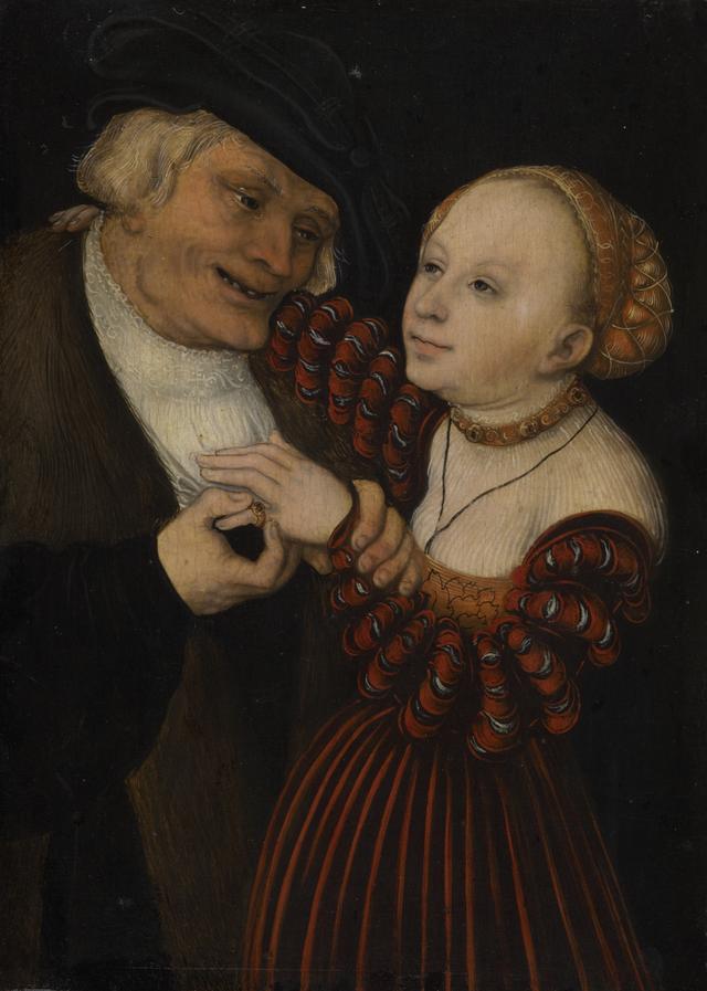 画像: ルカス・クラーナハ(父)《不釣り合いなカップル》1530/40年頃ウィーン美術史美術館© KHM-Museumsverband