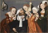 画像: ルカス・クラーナハ(父)《ヘラクレスとオンファレ》1537年バンベルク財団、トゥールーズ© bpk/ PMN - Grand Palais/ Mathieu Rabeau