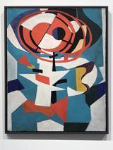 画像: 《赤い輪》1954年、油彩・キャンバス、東京国立近代美術館蔵