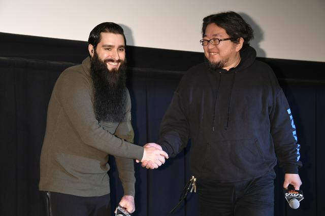 画像: ジョーダン・ボート=ロバーツ監督と樋口真嗣監督