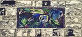 画像: ピエール・アレシンスキー《肝心な森》1981~84年 アクリル絵具 / インク、キャンバスで裏打ちした紙 作家蔵 © Pierre Alechinsky, 2016