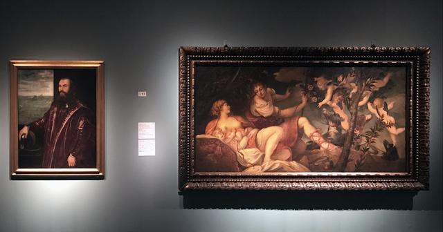 画像: 左:ティントレットと工房《ヴェネツィア提督の肖像》1570年代、油彩/カンヴァス、フィレンツェ、ウフィツィ美術館 右:ヤコポ・ティントレット(本名ヤコポ・ロブスティ)《ディアナとエンディミオン(もしくはウェヌスとアド ニス》1543-44年、油彩/カンヴァス、フィレンツェ、ウフィツィ美術館 photo©cinefil