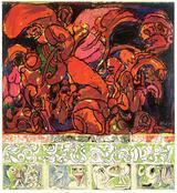 画像: ピエール・アレシンスキー《写真に対抗して》1969年 アクリル絵具、キャンバスで裏打ちした紙  ベルギーINGコレクション © Pierre Alechinsky, 2016