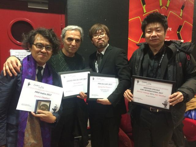 画像: 右から一番めが佐藤慶紀監督、二番目が春本雄二郎監督