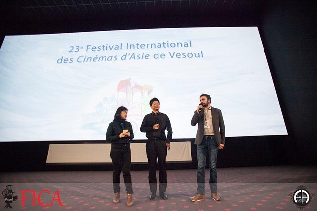 画像: ©Frederic AMBROISINE 映画祭 Q&Aでの佐藤慶紀監督