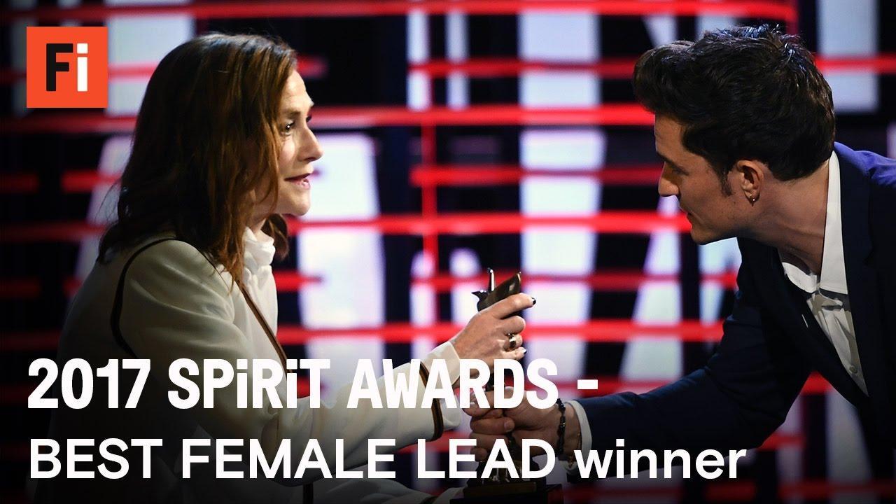 画像: Isabelle Huppert wins Best Female Lead at the 2017 Film Independent Spirit Awards youtu.be