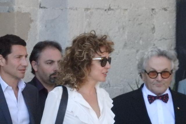 画像: プレス・ランチ:右から右からジョージ・ミラー、ヴァレリア・ゴリノ Photo by Yoko KIKKA