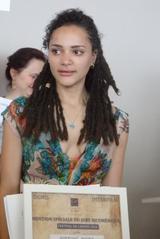 画像: エキュメニック賞を代理授賞した『アメリカン・ハニー』の主演女優サシャ・レーン Photo by Yoko KIKKA