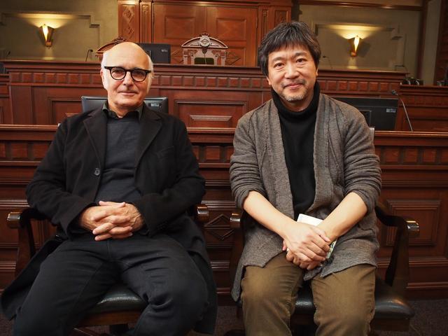 画像: ルドヴィコ・エイナウディと是枝裕和監督