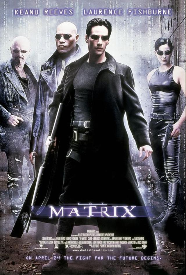 画像: 1999年『マトリックス』のポスター www.facebook.com