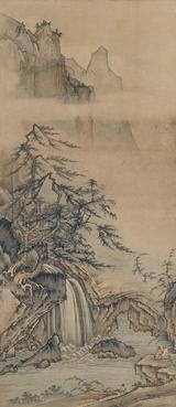 画像: 長吉 観瀑図