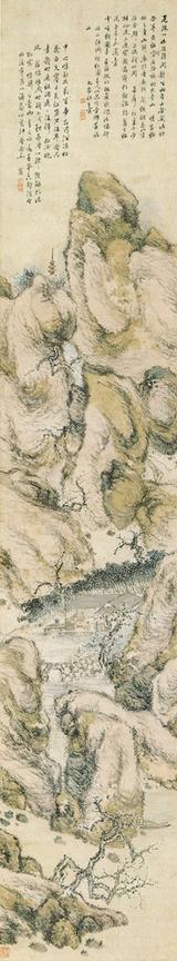 画像: 田能村竹田 梅渓閑居図 江戸・文政10年(1827)