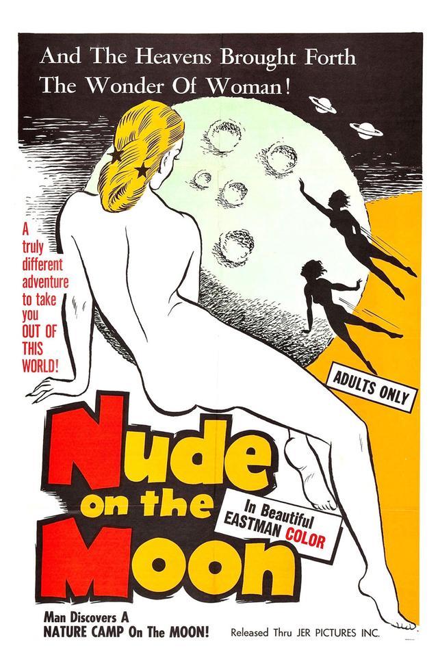 画像: 女性監督ドリス・ウィッシュマンのヌーディズム映画『ヌード・オン・ザ・ムーン』のポスター。映像も一部上映