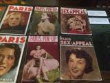 画像: 1930年代のフランスのエロティック雑誌。『PARIS Magazine』などはとくに稀少