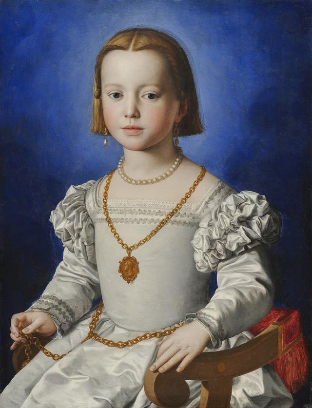 画像: ブロンズィーノ《ビア・デ・メディチの肖像》1542年頃 ウフィツィ美術館 © Gabinetto Fotografico delle Gallerie degli Uffizi