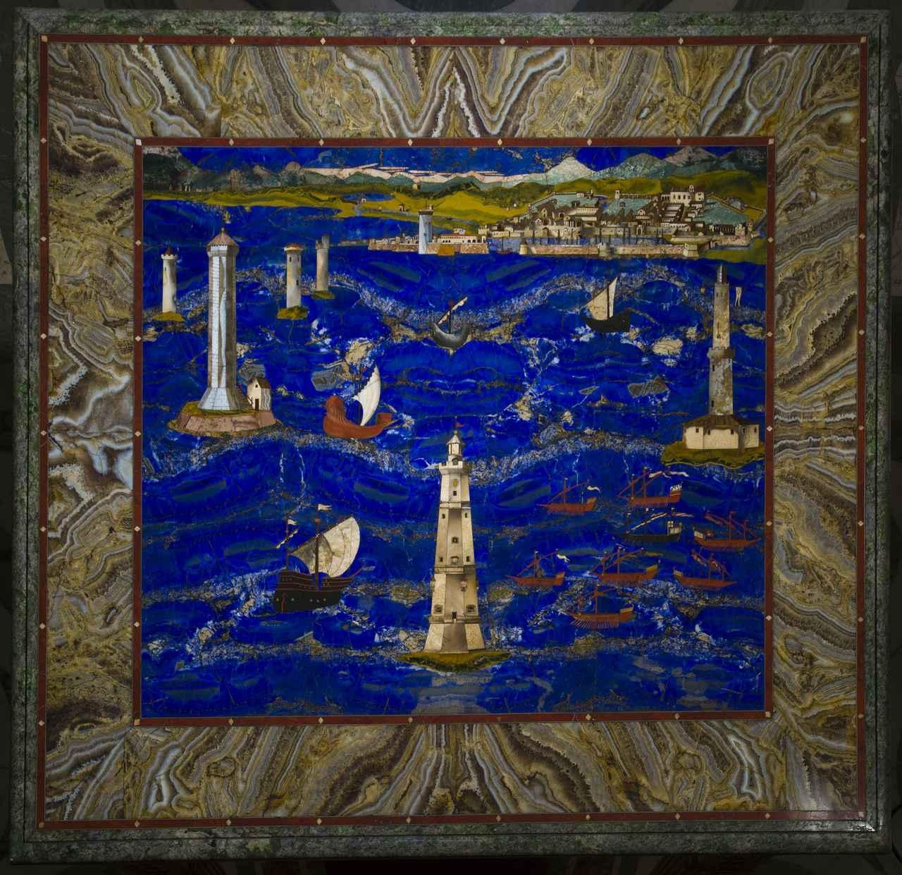 画像: 大公の工房、クリストーファノ・ガッフーリ(ヤコポ・リゴッツィの作品に基づく)《リヴォルノ港の景観》1601-04年 ウフィツィ美術館© Gabinetto Fotografico delle Gallerie degli Uffizi