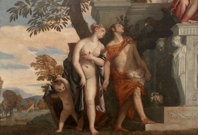画像: パオロ・ヴェロネーゼ《息子アンテロスをユピテルに示すヴィーナスとメルクリウス》 1560-65年 ウフィツィ美術館 © Gabinetto Fotografico delle Gallerie degli Uffizi