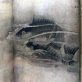 画像: 雪村周継《花鳥図屏風》部分 ミネアポリス美術館蔵  波頭の表現の不思議なこと! photo©cinefil