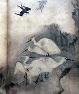 画像: 雪村周継《花鳥図屏風》部分 ミネアポリス美術館蔵 photo©cinefil