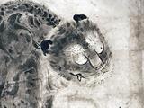 画像: 雪村周継《《龍虎図屏風》部分 根津美術館蔵  虎だけど、、、カワイイ。 photo©cinefil