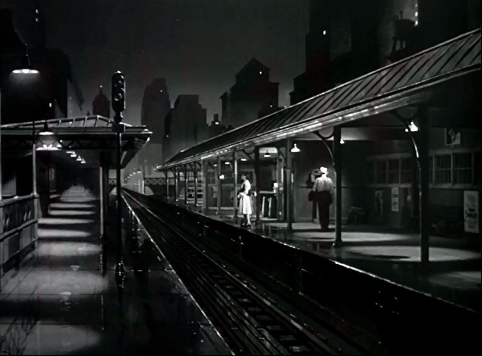 画像: 『幻の女』、駅構内での不安をかき立てるシーン。ホーム手前にいるのがエラ・レインズ