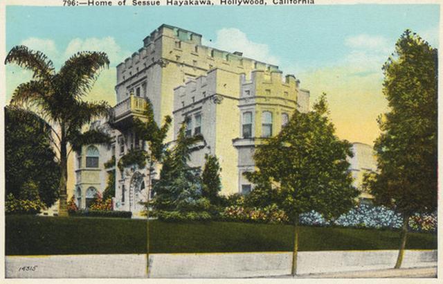 画像: 当時、ハリウッドで早川雪洲が住んでいた4階建て32室のの大豪邸。 「グレンギャリ城」と呼ばれ、チャップリンやヴァレンティノが訪れた。 calisphere.org