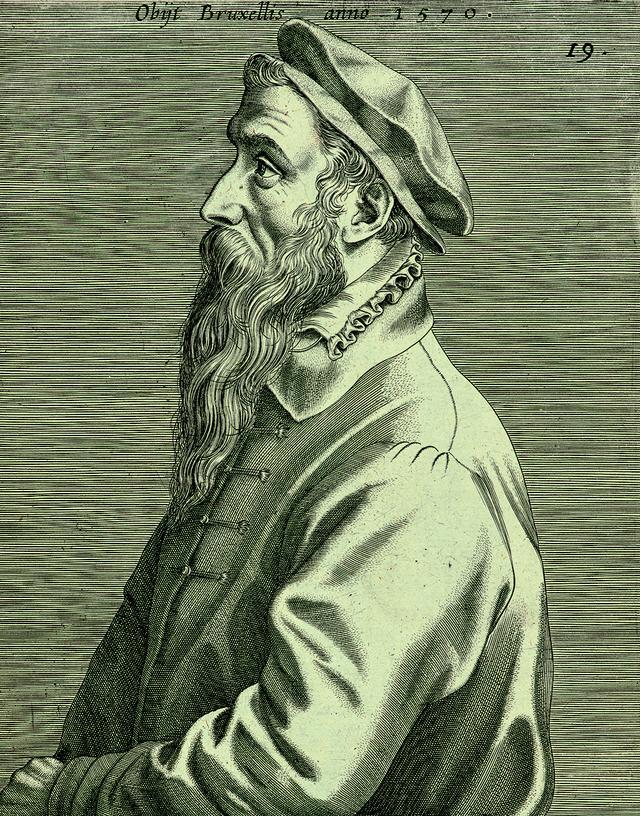 画像: ヨハネス・ウィーリクス 「ピーテル・ブリューゲル1世の肖像」(部分) 1600年出版 エングレーヴィング Museum BVB, Rotterdam, the Netherlands