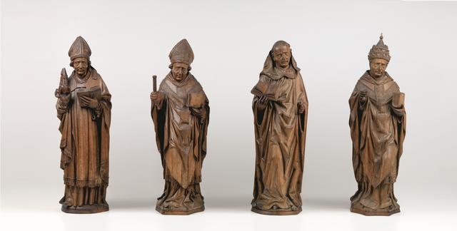 画像: アルント・ファン・ズヴォレ(推定) 「四大ラテン教父(聖アウグスティヌス、聖アンブロシウス、聖ヒエロニムス、聖グレゴリウス)」 1480年 オーク材 Museum BVB, Rotterdam, the Netherlands