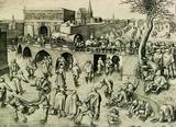 画像: ピーテル・ブリューゲル1世、彫版:フランス・ハイス 「アントウェルペンのシント・ヨーリス門前のスケート滑り」 1558年頃 エングレーヴィング Museum BVB, Rotterdam, the Netherlands