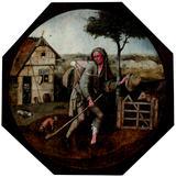 画像: ヒエロニムス・ボス 「放浪者(行商人)」 1500年頃 油彩、板 Museum BVB, Rotterdam, the Netherlands
