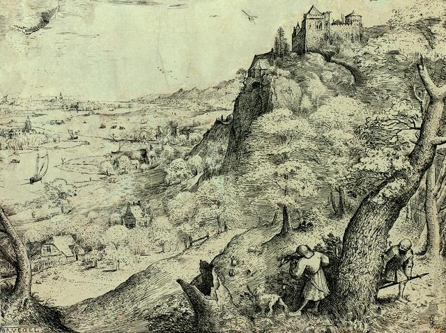 画像: ピーテル・ブリューゲル1世 「野ウサギ狩り」 1560年 エッチング Museum BVB, Rotterdam, the Netherlands