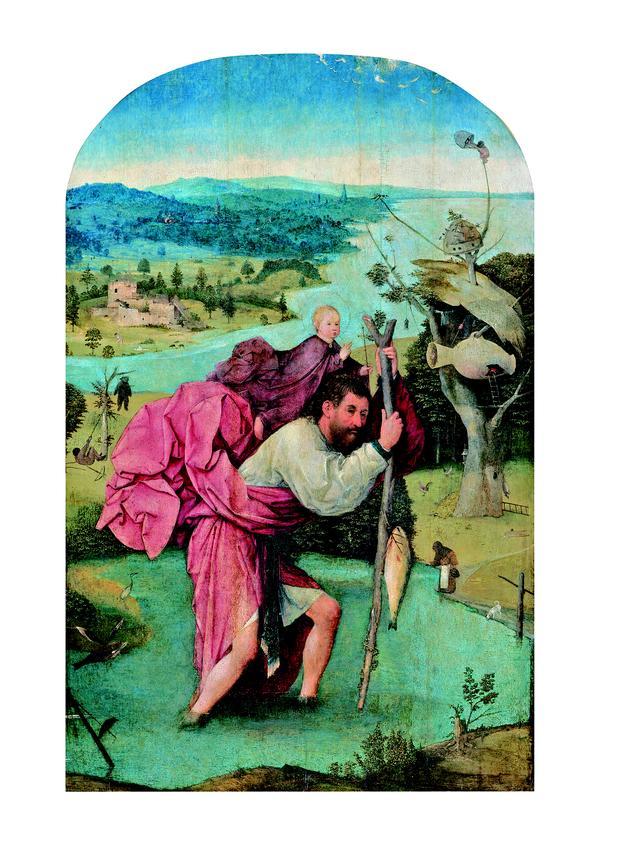 画像: ヒエロニムス・ボス 「聖クリストフォロス」 1500年頃 油彩、板 Museum BVB, Rotterdam, the Netherlands(Koenigs Collection)