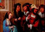 画像: ルカス・ファン・レイデン 「ヨセフの衣服を見せるポテパルの妻」 1512年頃 油彩、板 Museum BVB, Rotterdam, the Netherlands