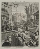 画像: ウィリアム・ホガース『ビール街とジン横丁』より《ジン横丁》1750-51年 エッチング、エングレーヴィング・紙 郡山市立美術館 © Koriyama City Museum of Art