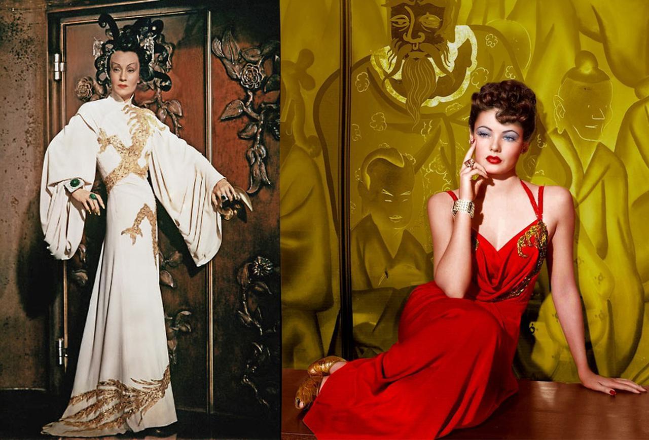 画像: モノクロ映画なので分からないが、実際の衣裳やセットはこのような華やかな色を用いて制作された。