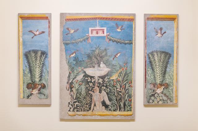 画像: 「庭園図」(ていえんず) ローマ 1世紀 フレスコ 縦139.7-162.9cm