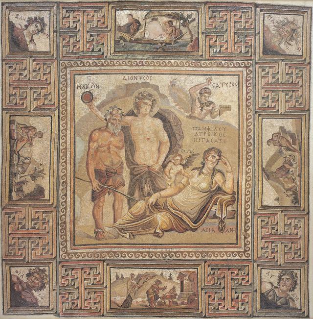 画像: 「ディオニュソス・モザイク」 ローマ 伝シリア出土 3-4世紀 石の小片 縦352.0 横357.0cm
