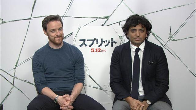 画像: (左より)M・ナイト・シャマラン監督×ジェームズ・マカヴォイ