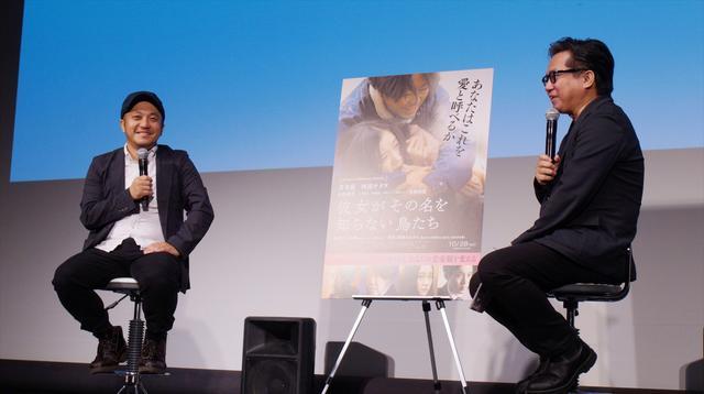 画像2: 左より白石和彌監督、松崎健夫(映画評論家)