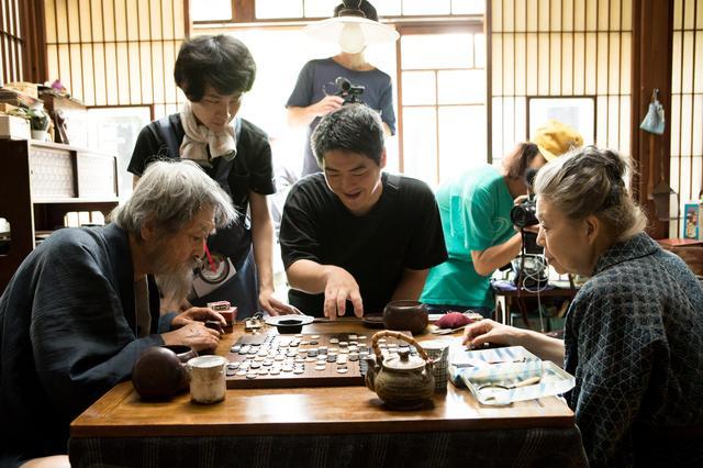 画像: 『モリのいる場所』メイキング写真 山﨑努、樹木希林、沖田監督 (c)2017「モリのいる場所」製作委員会
