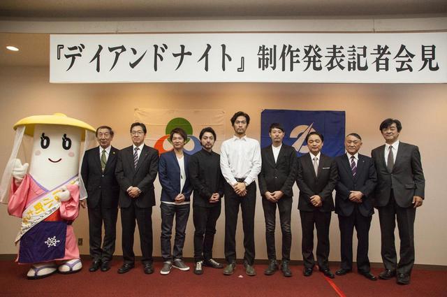 画像: 左より小町ちゃん、岩谷、高堂、伊藤、山田、阿部、藤井、木村、児玉、岩船(敬称略)