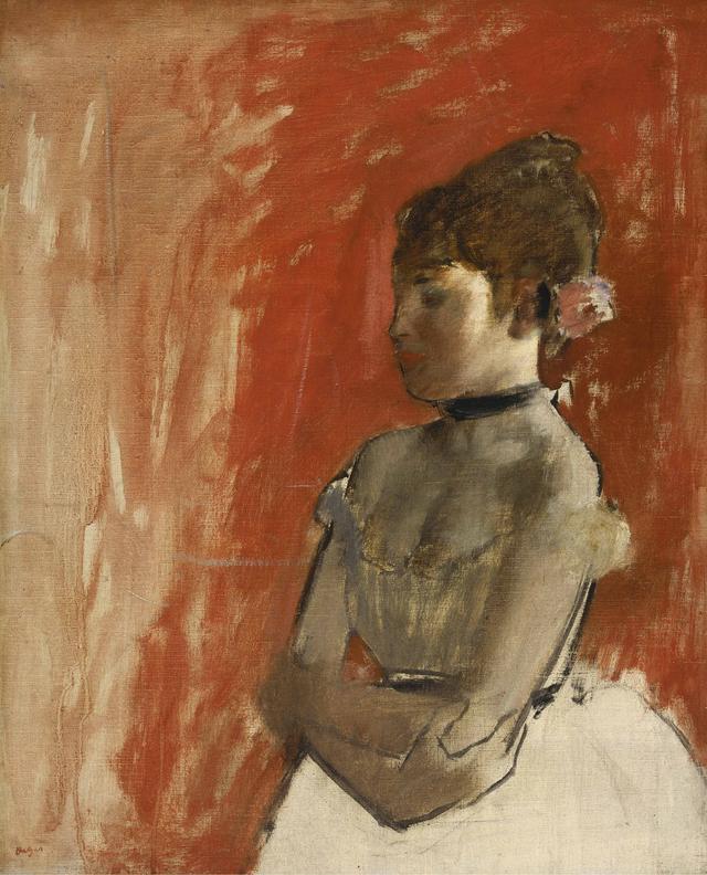 画像: エドガー・ドガ《腕を組んだバレエの踊り子》1872年頃61.3cm x 50.5cm 油彩、カンヴァスBequest of John T. Spaulding, 48.534 Photograph © Museum of Fine Arts, Boston