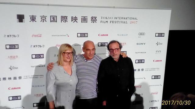 画像: 左より 製作者、主役、セミフ・カプランオール監督