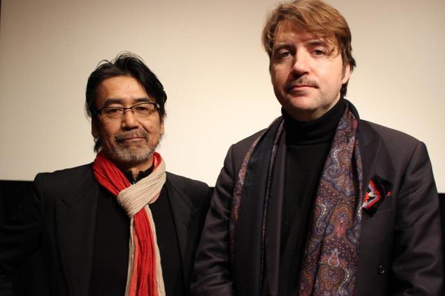 画像: 右よりアルベルト・セラ監督と諏訪敦彦監督